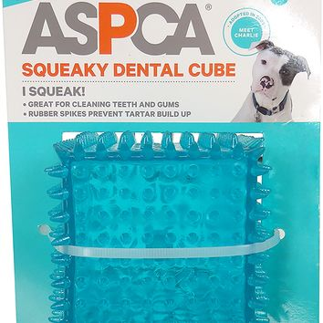 "ASPCA 3"" Squeaky Dental Cube [Blue]"