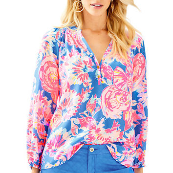Elsa Silk Top - Bay Dreamin | 41773420YT5 | Lilly Pulitzer