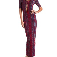 Printed Cotton Maxi Dress: Charlotte Russe