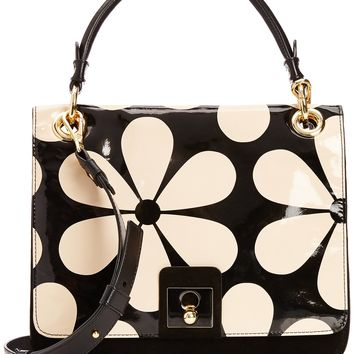 Orla Kiely Snow Drop Printed Patent Leather Ivy Bag,Marble,One Size