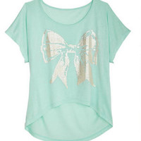 Mint Shine Bow Tee