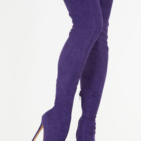 Come Hither Pointy Thigh-High Boots GoJane.com