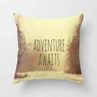 Adventure Awaits II Throw Pillow by Rachel Burbee | Society6