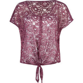 FULL TILT Lace Tie Front Womens Top 201816754 | Tops | Tillys.com