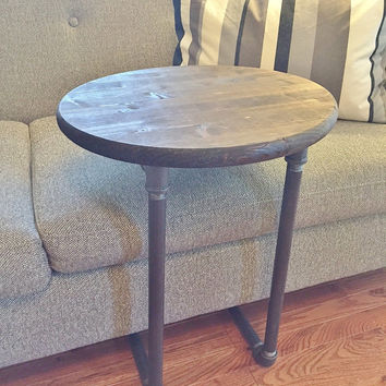 Small Table, Round Table, Side Table, Night Stand, Bedside Table, Accent Table, Handmade Table, Industrial Table, Wood Table, Wooden Table