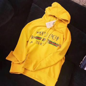 Gucci Yellow Hot Hoodie Cute Sweater