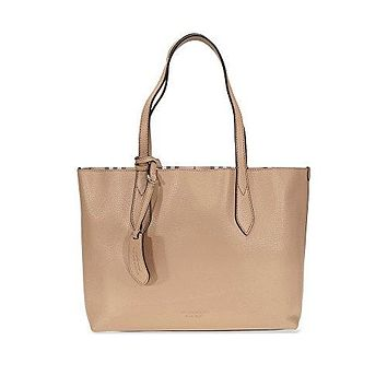 Burberry Women's Small Reversible Handbag in Haymarket Check and 1 Camel