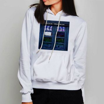 Unisex Hoodie Cool  Doctor Who Tardis Box Stained Glass