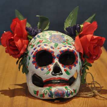 Sugar Skull Mask - Day of the Dead - Día de Muertos - Halloween Decor - voodoo accessory