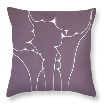"""Succulent In Violet Throw Pillow for Sale by Ben Gertsberg - 16"""" x 16"""""""