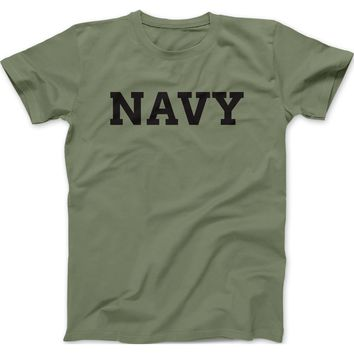 NAVY Mens 100% Cotton T-Shirt
