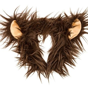 Plush Grizzly Bear Ears Headband Accessory for Grizzly Bear Costume or Forest Animal Costumes