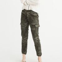 Womens Low-Rise Military Boyfriend Pants | Womens Bottoms | Abercrombie.com