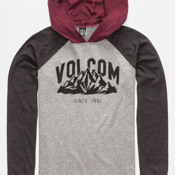 Volcom Stonith Boys Lightweight Hoodie Red Combo  In Sizes
