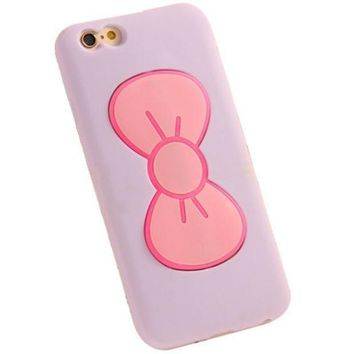 Iphone 6 6s Cute Bow Phone Case (purple).