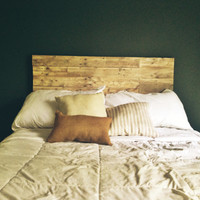 Elegant and Rustic Reclaimed Wood Headboard (Full)