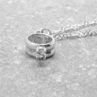 Promise Ring Necklace Sterling Silver by GirlBurkeStudios on Etsy