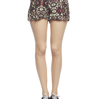 Aztec Smocked Waist Short | Wet Seal