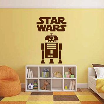 ik2720 Wall Decal Sticker R2D2 droid character Star Wars children's room teenager