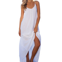 Summer Dress Fashion Women Dress Sexy Backless Strapless Loose Beach Long Maxi Dress Vintage Vestidos Plus Size