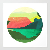 Circlescape Stretched Canvas by Amelia Senville