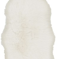 Sheepskin Shag Area Rug Neutral