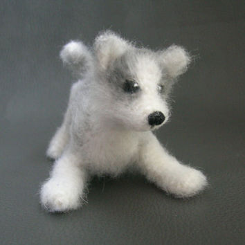 Miniature Cute Puppy Husky Christmas Decor Christmas Gift Christmas Puppy Stuffed Animal Handmade Home Decor Puppy Gift Ideas for Home