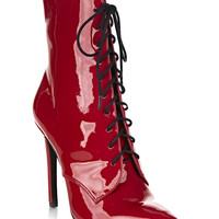 CHAPEL LACE-UP BOOT / RED