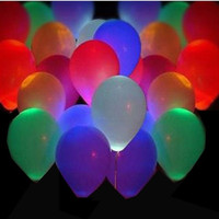 5 Pack LED Hellium Air Mixed Colors Balloons Wedding Light Up Decoration Party = 1946010756