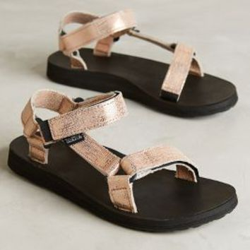 Teva Original Universal Metallic Sandals Rose Gold