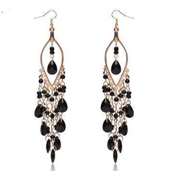 Black Peacock Tail Earrings   -   FREE W/$50.00 Purchase or more & Sign Up FOR REWARDS PROGRAM