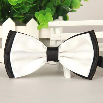 2017 New Bow Tie Mens Women Satin Adjustable Bowtie Tuxedo Wedding Bow Tie Necktie Cravats Accessories Bowknot gravata borboleta