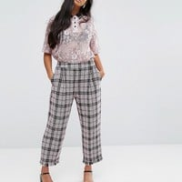 Sister Jane Petite Cropped Pants In Tweed Check at asos.com