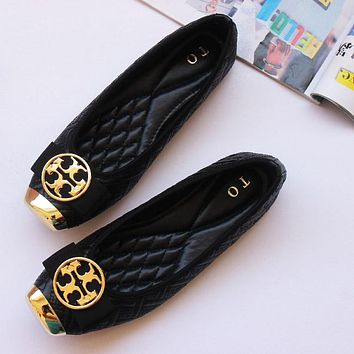 Tory Burch Women Fashion Leather Moccasin-Gommino Flats Shoes