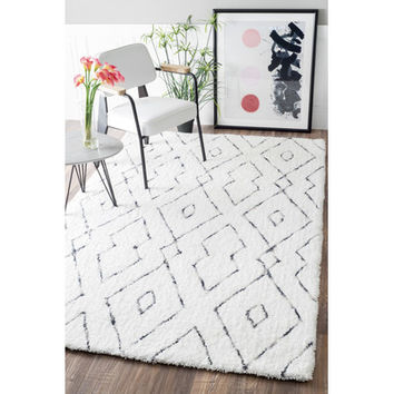 Mercury Row Peraza Hand-Tufted White Area Rug & Reviews | Wayfair