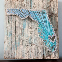 Florida Driftwood String Art