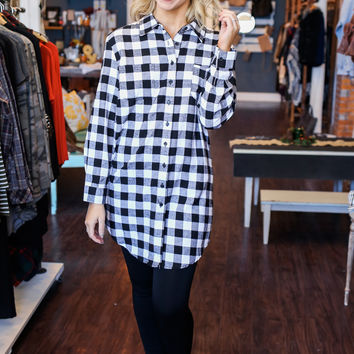 The Shania Flannel Dress