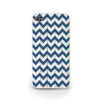 Wood and Chevron meet / Navy blue chevron / iPhone 5 case, iPhone 5S case, iPhone 6 case, Samsung S5 case / Gift idea, great for him (G040)