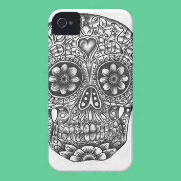 Sugar Skull iPhone Case from Zazzle.com