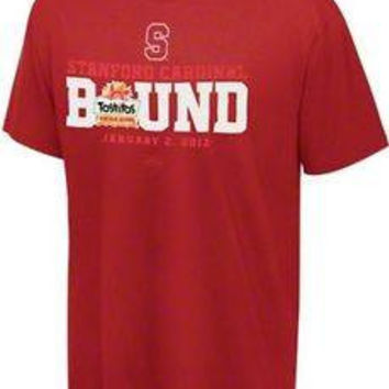 Stanford Cardinals 2012 BCS Bound Tostito's Fiesta Bowl t-shirt Adidas NCAA new