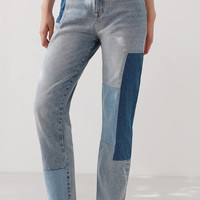 BDG Mom Jean – Patchwork   Urban Outfitters