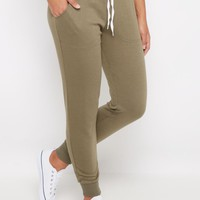 Olive Green Soft Knit Jogger | Solid Joggers | rue21