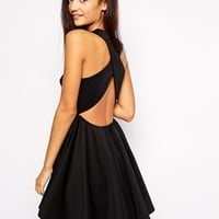 Jovonna Peekaboo Cross Back Dress