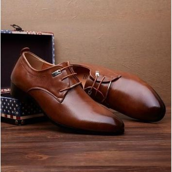 FeelinGirl Mens Oxford Shoes Genuine Leather Fashion Dress Office Luxury Autumn For casual Shoes Men's Flats