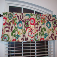 P Kaufmann Valance / Tempo ROCK N ROLL Custom Boutique / Lined Curtain-for Kitchen, Bath, Laundry, Bedroom, living room-Window Treatment