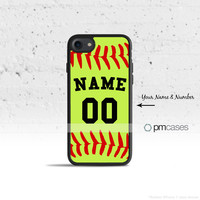 Personalized Softball Case Cover for Apple iPhone iPod Samsung Galaxy S & Note