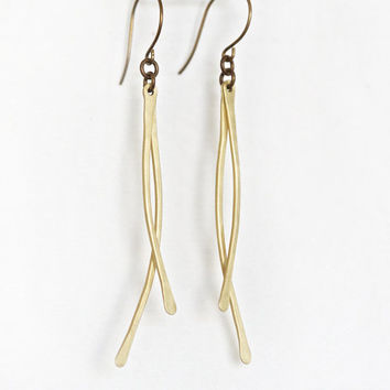Wind Chimes - Dance in the Wind Earrings - Choose Gold or Silver Finish