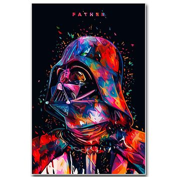 Star Wars 7 The Force Awakens Art Silk Fabric Poster Print 13x20 24x36 inch Movie Darth Vader Picture for Room Wall Decor 002