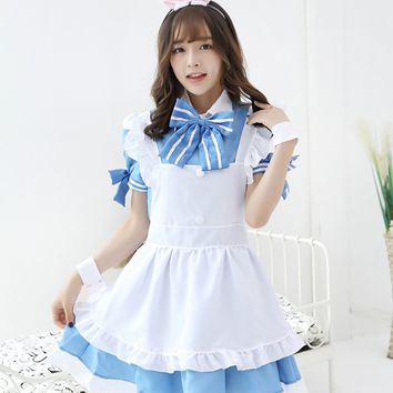 MOONIGHT Is the order a rabbit? Cappuccino Cosplay Costume Rabbit House cafe Waitress Service Maid Unifrom Halloween Costumes