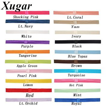 10 Pcs/lot 7'' Newly FOE Colorful Elastic Headband For Infant Toddlers Hair Band Baby Children Fashion Hair Accessories